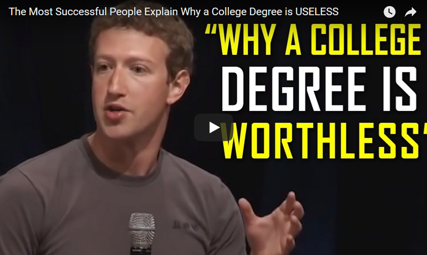 why a college degree is worthless